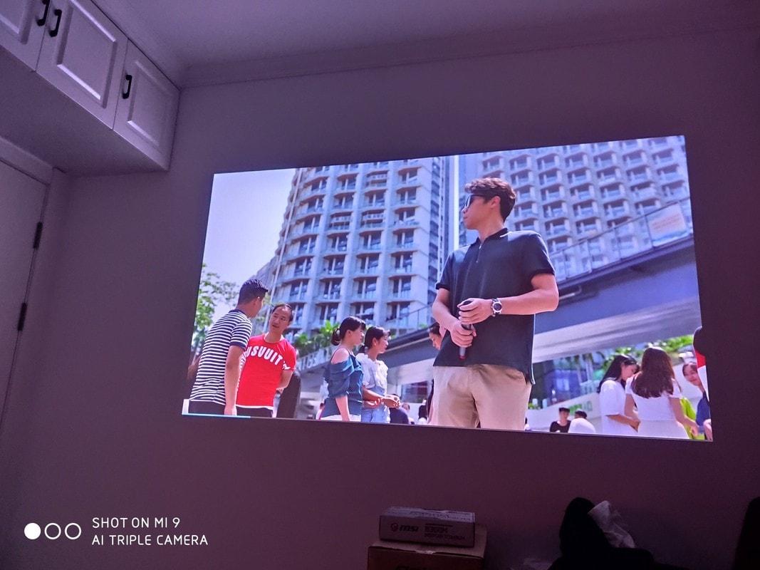 ảnh thực tế MÁY CHIẾU TYCO T8HD+ WIFI 2020