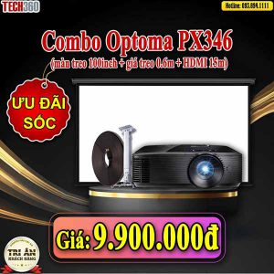 combo máy chiếu optoma px346